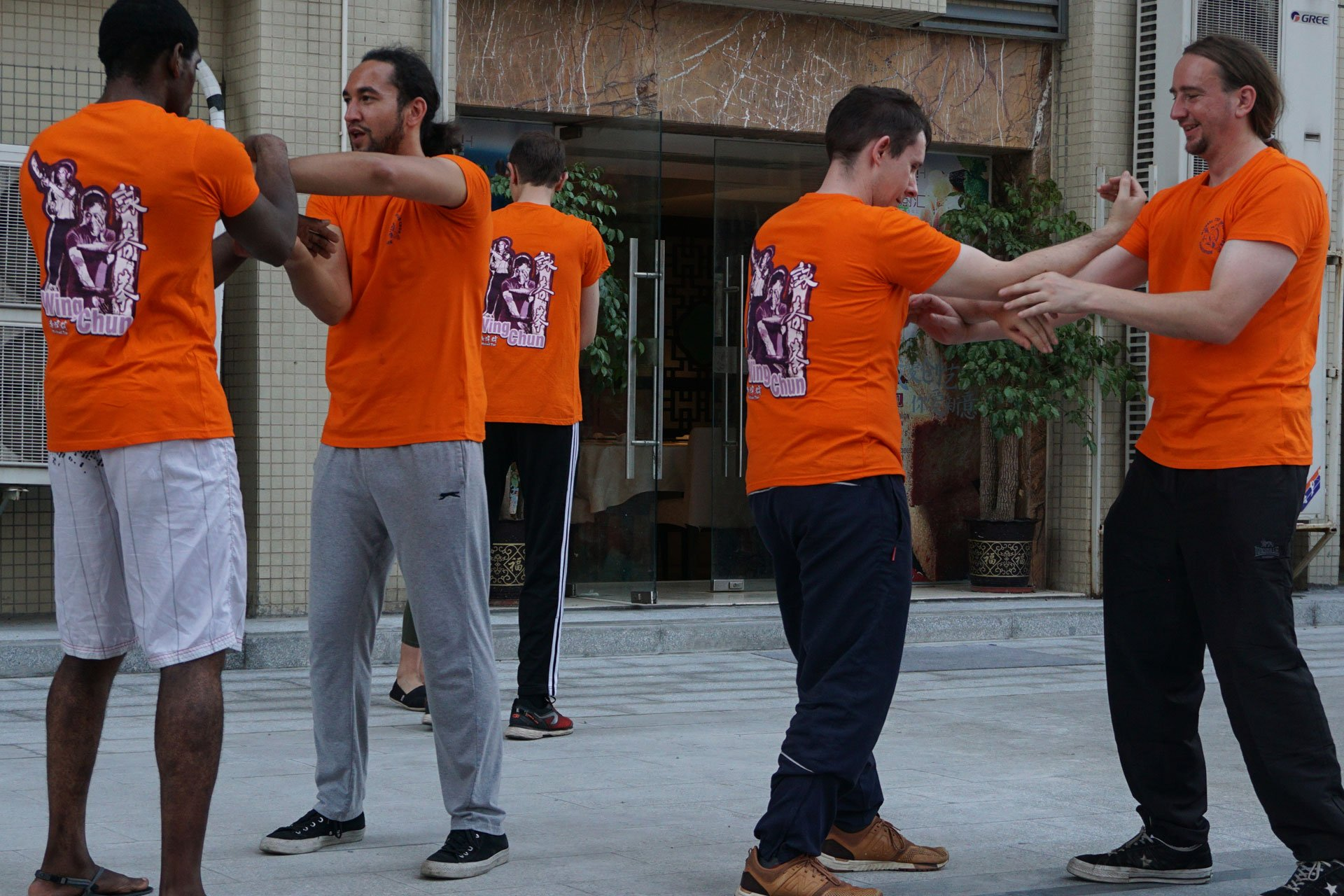 photo students training Ip Man Wing Chun Kung Fu